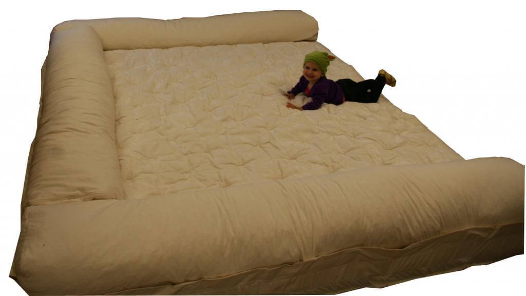 Worlds Largest Dog Bed with my smallest grandchild