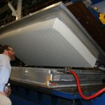 Dave inspects Talalay Latex Core coming out of mold