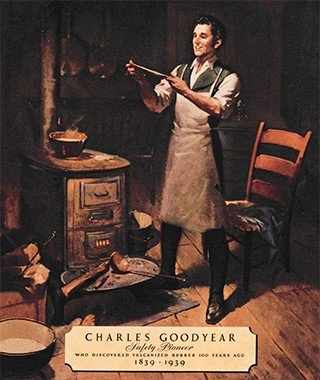Charles Goodyear the inventor of latex foam rubber