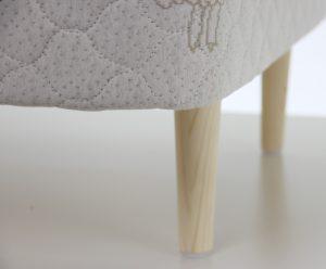 tapered wood legs