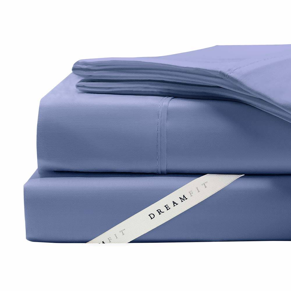 100% Cotton DreamFit Sheets in Blue