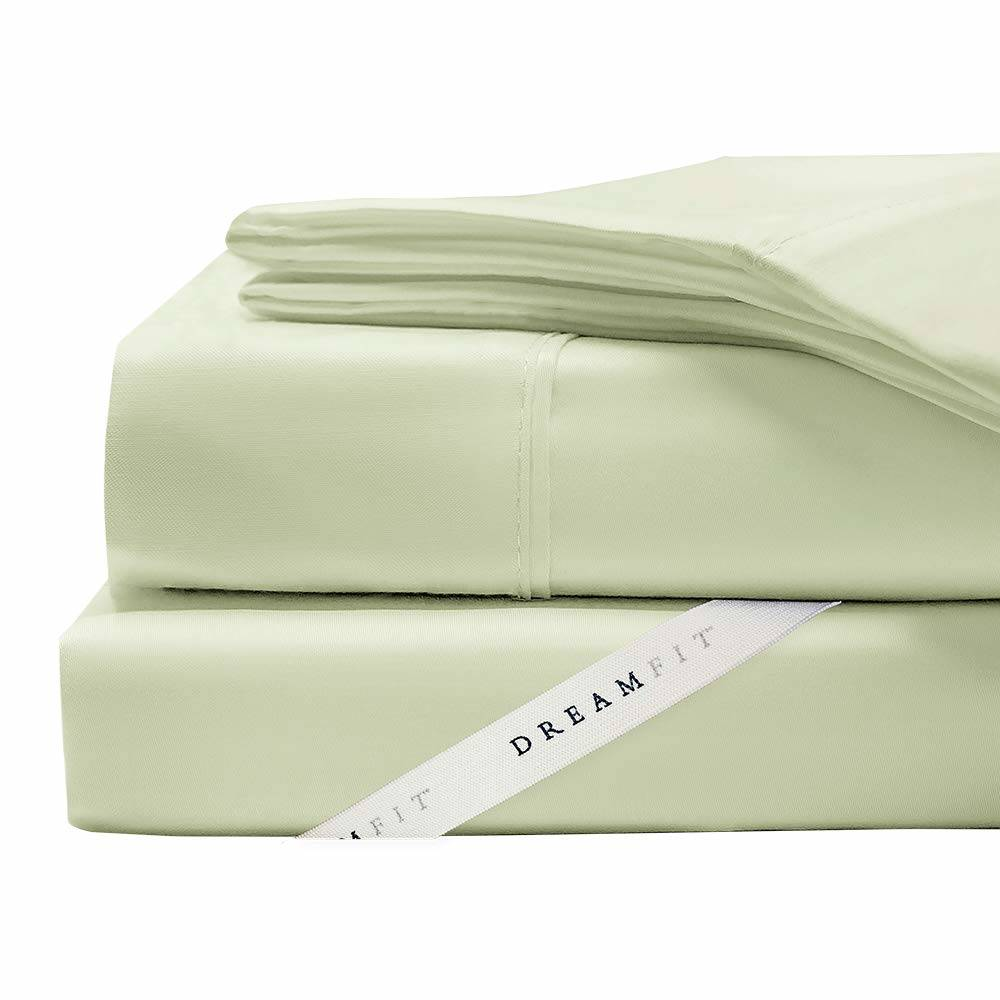 100% Cotton DreamFit Sheets in Celadon Green