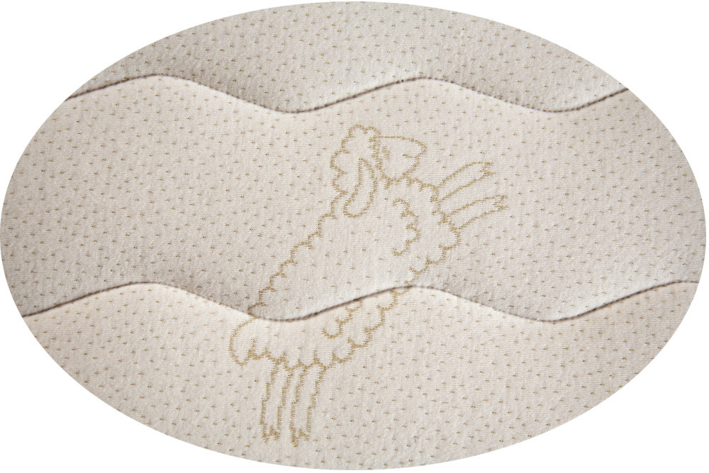 FloBeds Natural Talalay Mattress surrounded by Organic Cotton quilted to wool