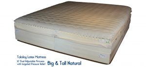 Big & Tall Natural Latex Mattress with Organic Cotton, Organic Wool, Horsehair and coconut coir