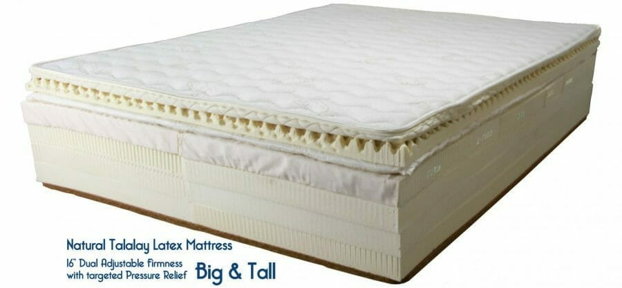 Big & Tall Natural Latex Mattress with Organic Cotton, Organic Wool, Horsehair and coconut co