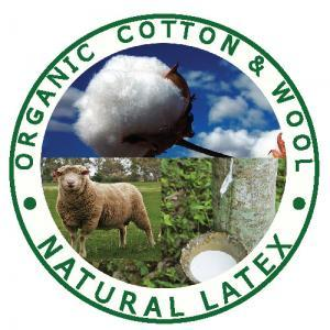 Organic Cotton, organic wool and natural Talalay