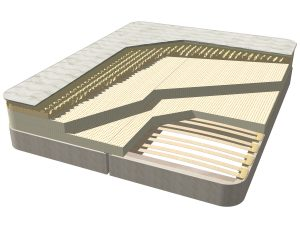 Select Natural Latex Mattress shown on Euro Slats