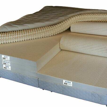 Deluxe Latex Mattress showing Talalay Cores