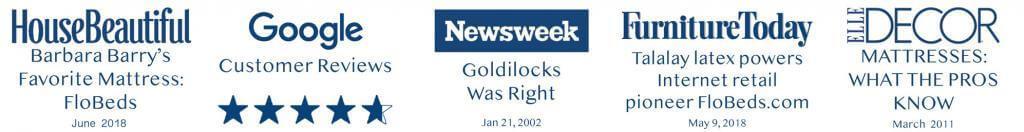 HouseBeautiful, Google, Newsweek, FurnitureToday, ElleDecor