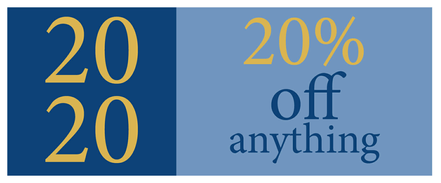 20% OFF Anything. A real New Year Sale