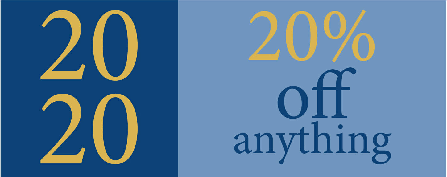 2020 - 20% off anything