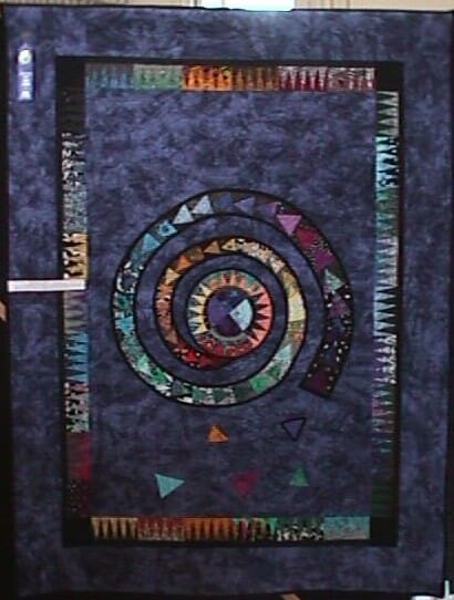 Dew's Quilt - he can fly!