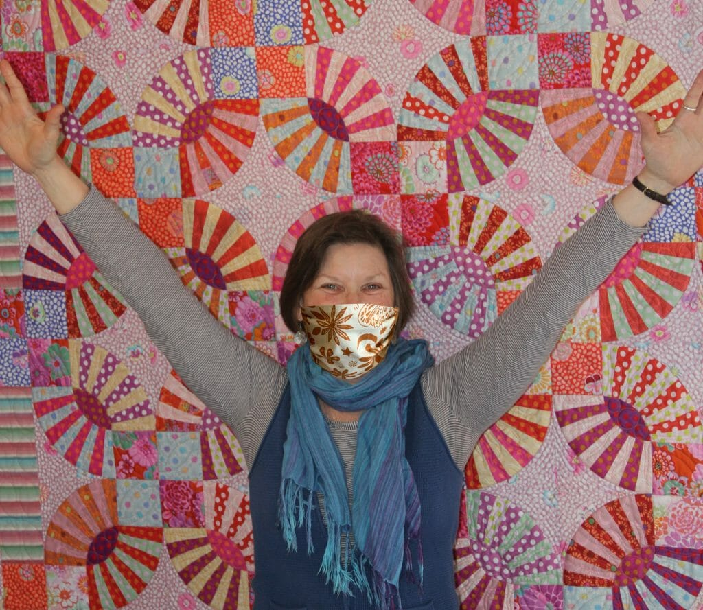 Quilter Anne in one of her Face Masks