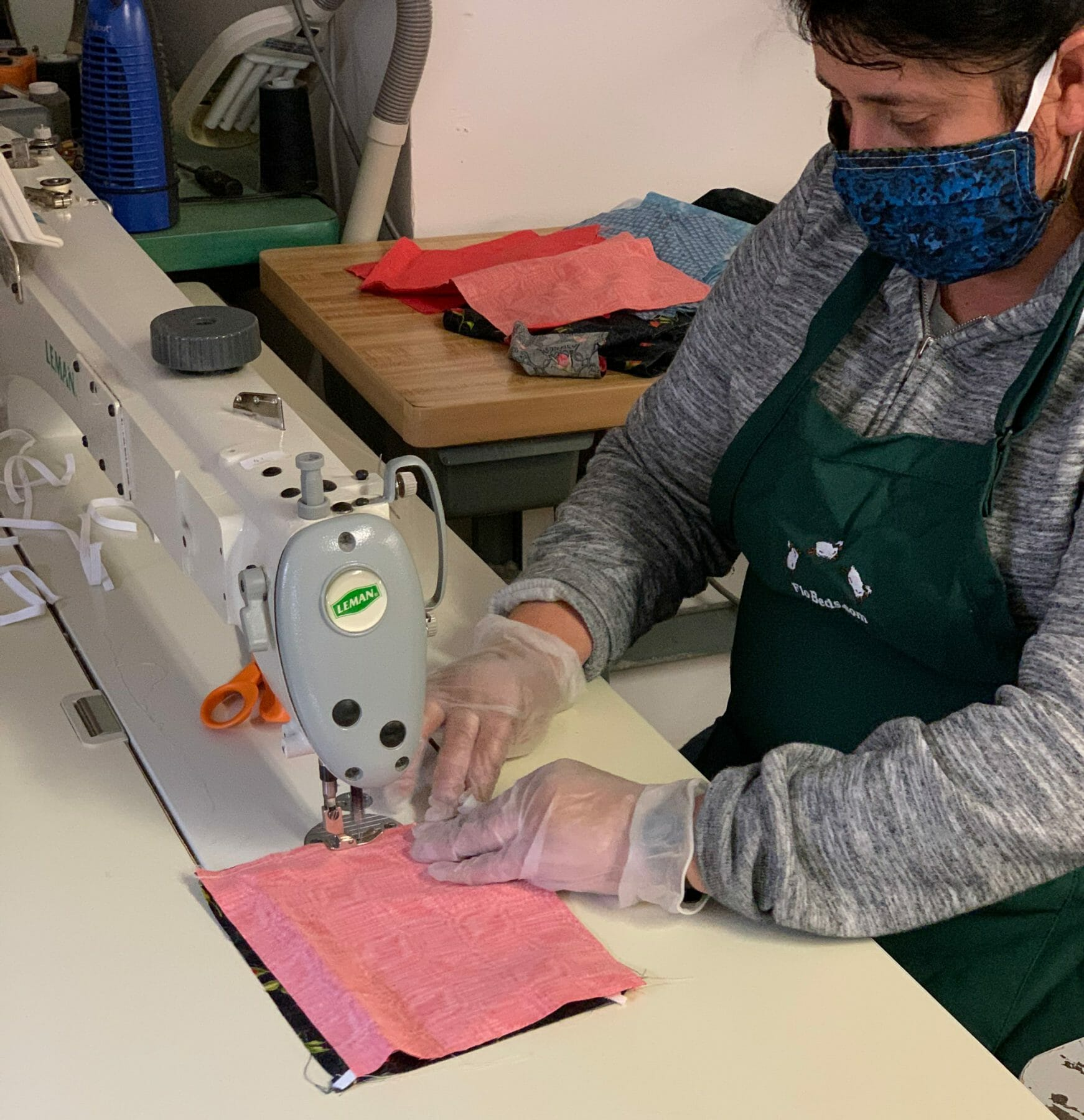 Rosa sews to flatten the curve