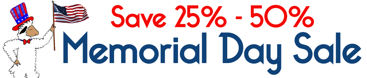 Memorial Day Sale - Save 25% to 50%