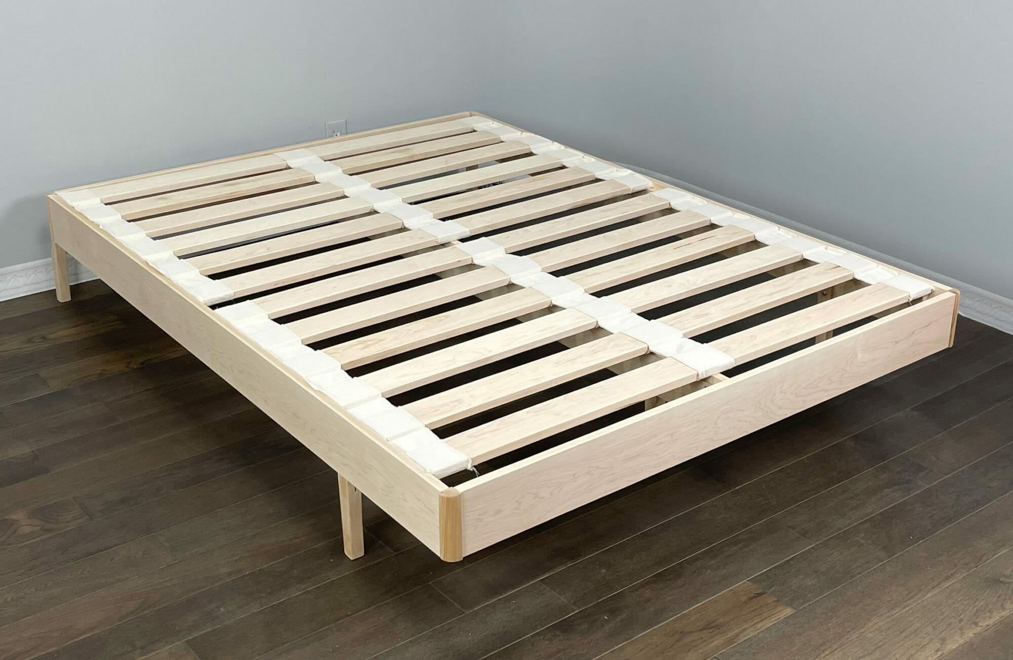 Maple Bed Maple Slat without mattress
