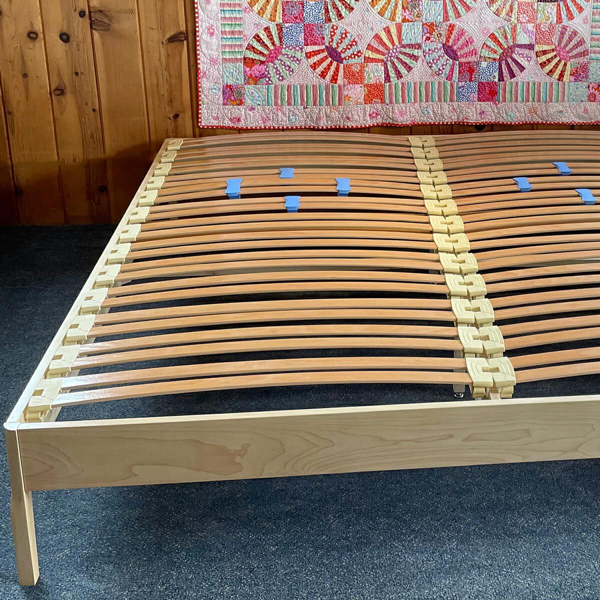 Maple Platform Bed Eco-Finish with Euro Slats