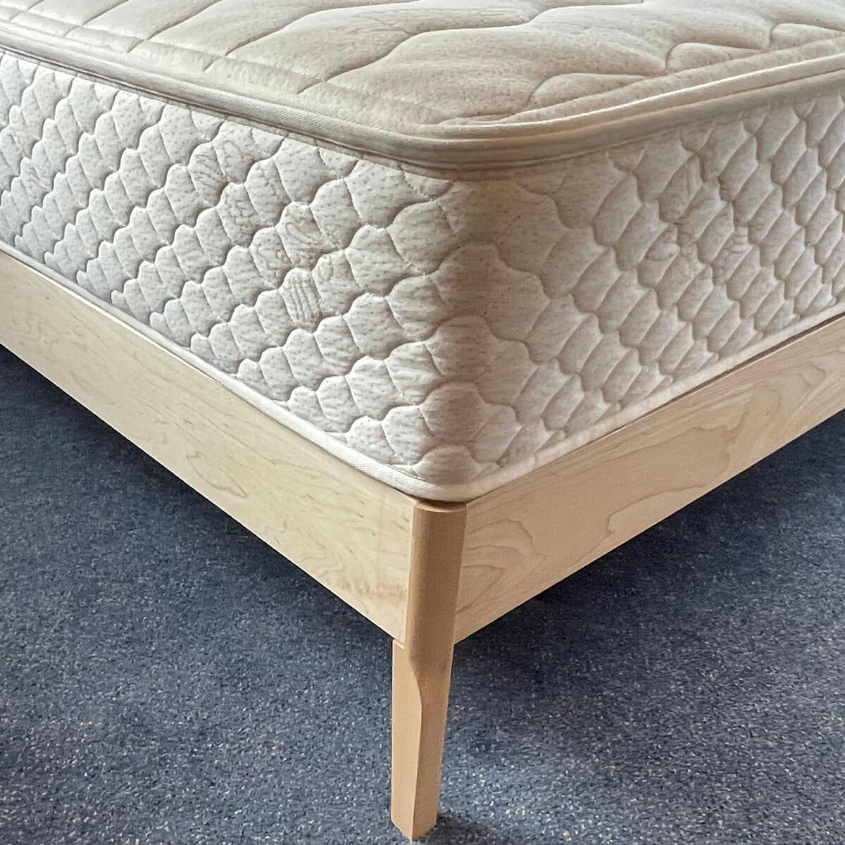 Maple Platform Bed with Mattress inEco-Finish-Corner