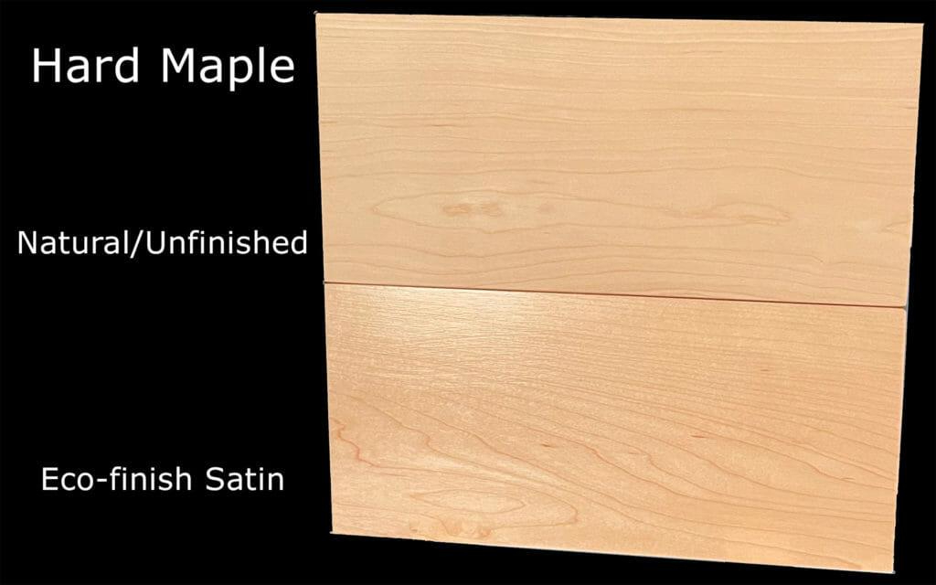 Maple Ergonomic Platform Bed - Finishes