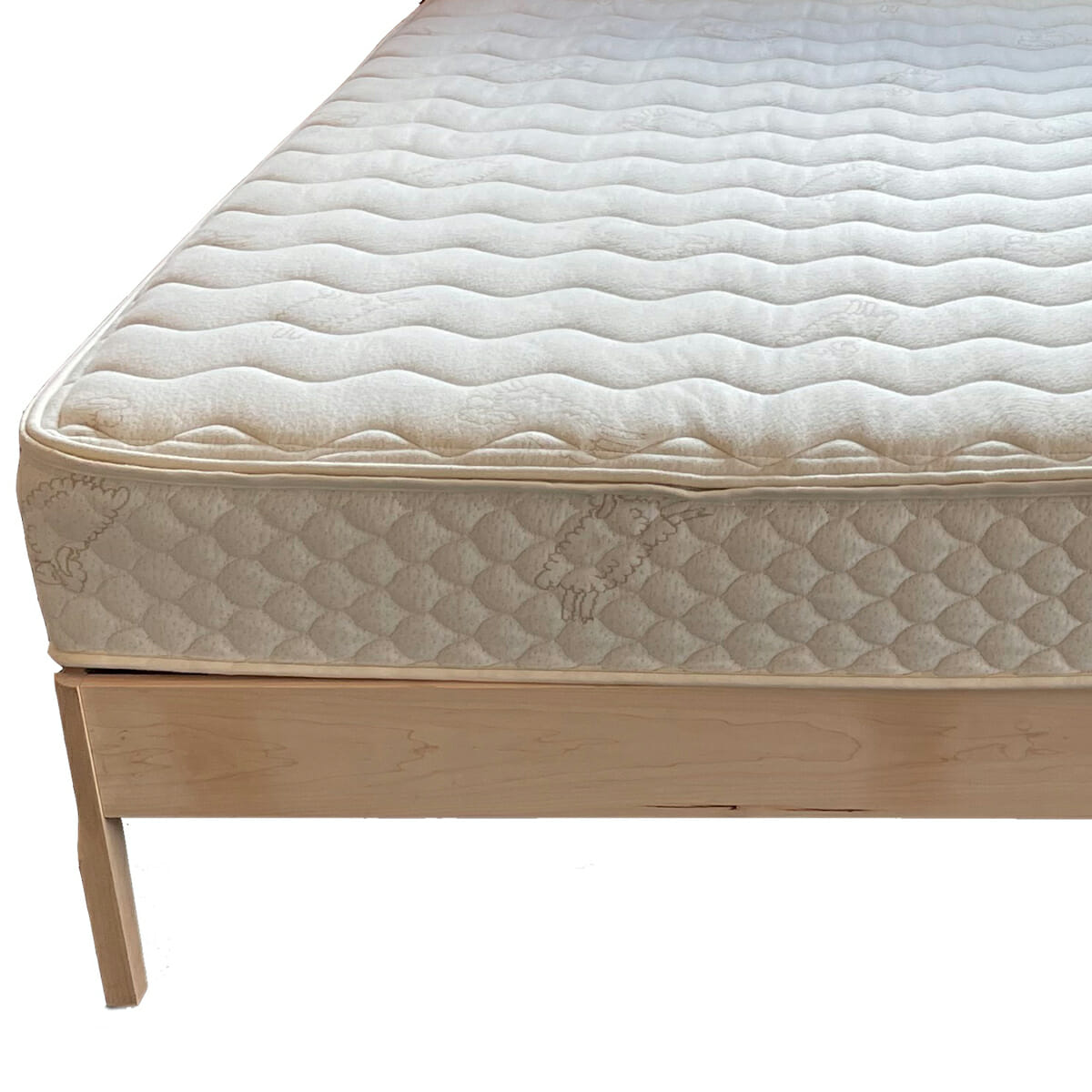Maple Platform Bed Unfinished with Select Mattress