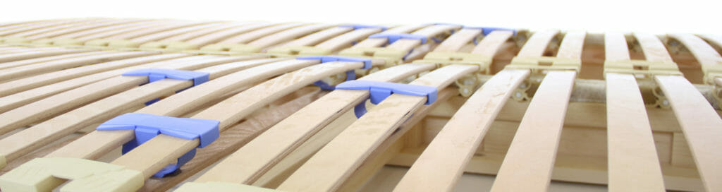 maple platform bed with euro-slat adjustable firmness