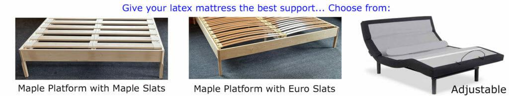 maple slats, euro slats or adjustable