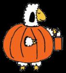 sheep in pumkin costume